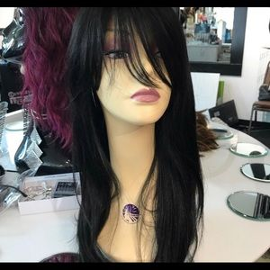 Accessories - Wig Black Swisslace Lacefront Wig with bangs new